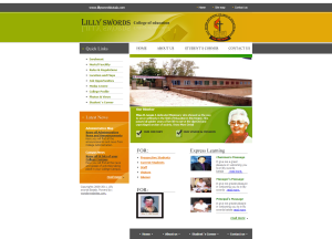 lilly swords college of education website snapshot
