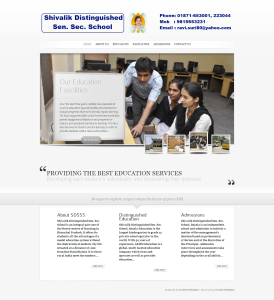 website designing of ShivalikDistinguishedSenSecSchool.com snapshot